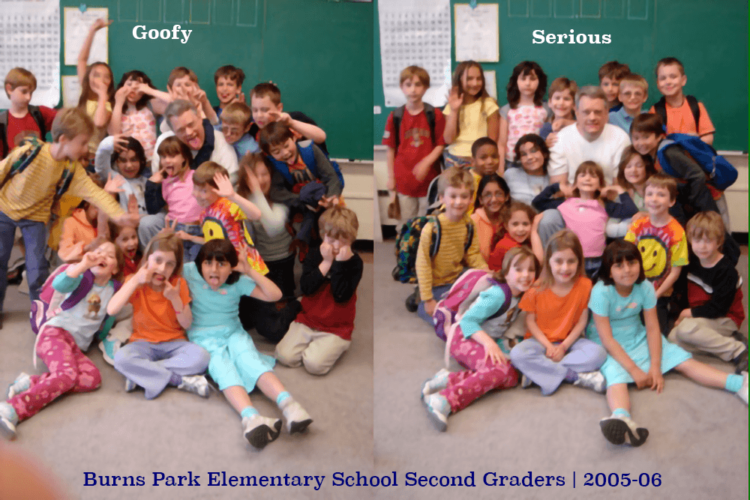 Second Graders: Seriously Goofy and Goofily Serious