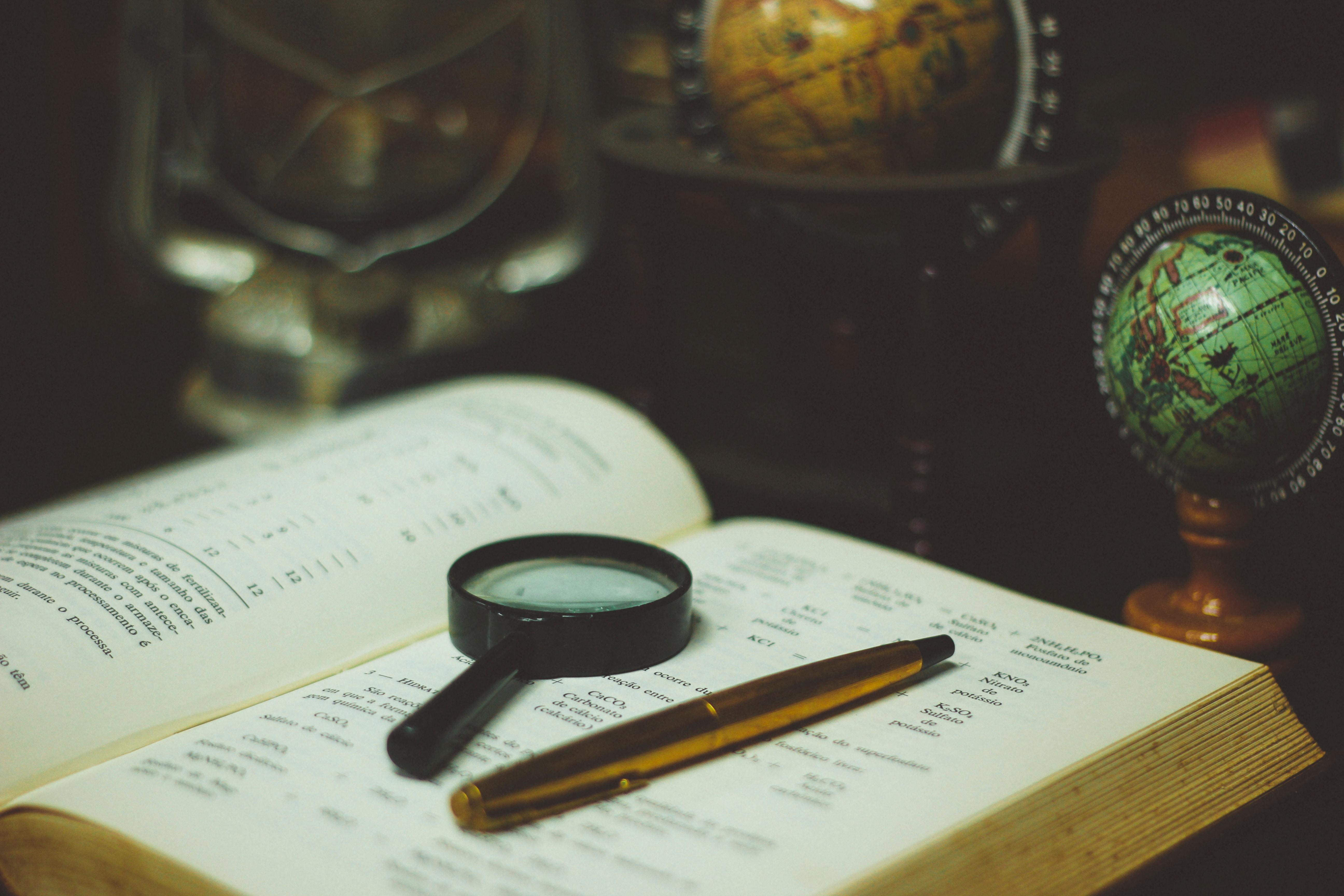 Book Map Globe Glass