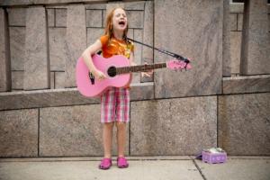 Girl Pink Guitar