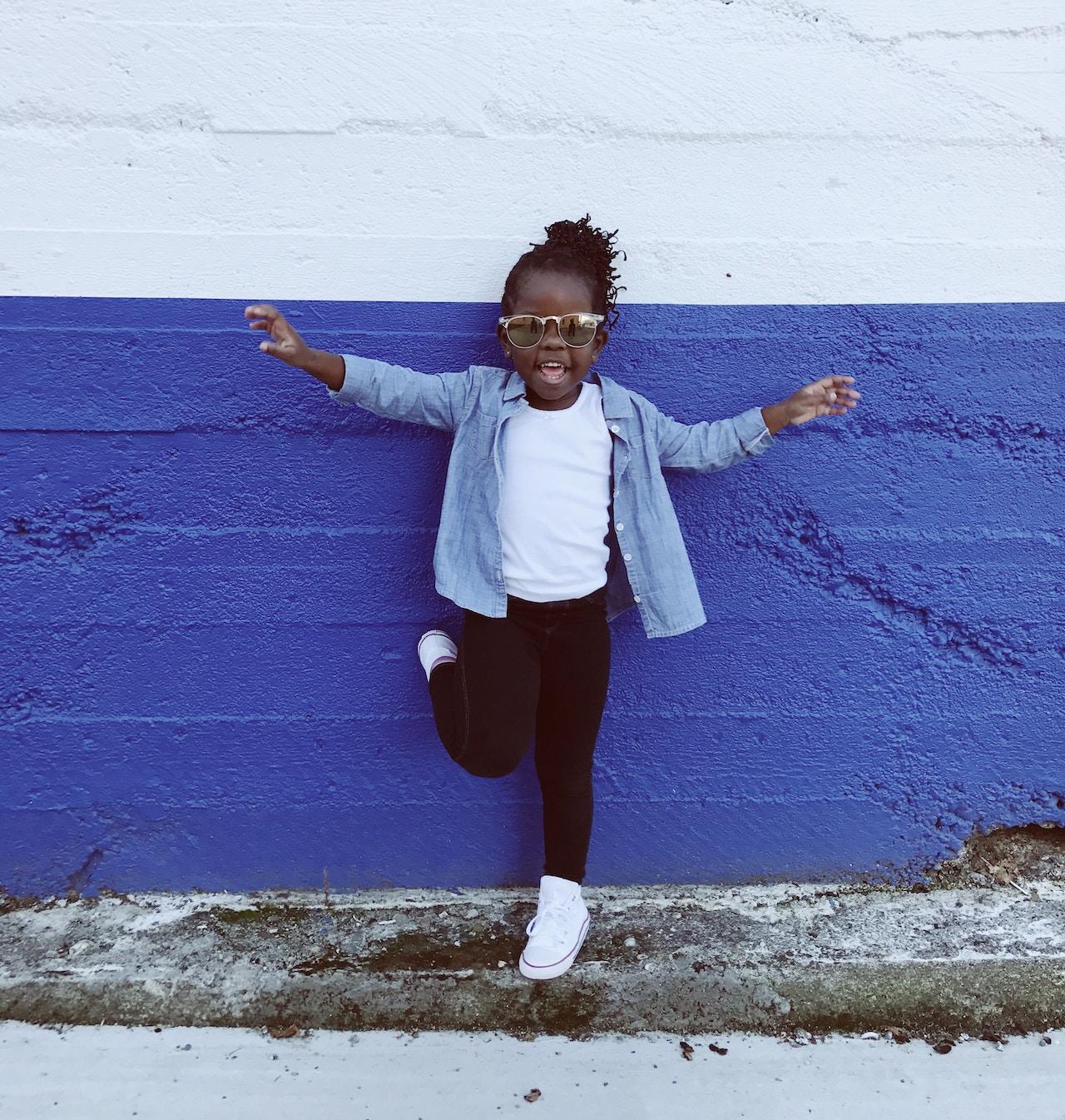 Kid Blue Wall