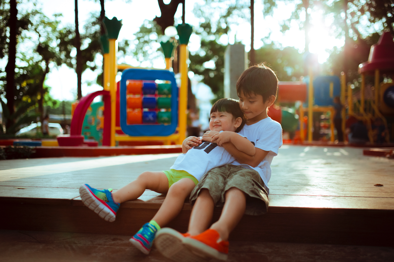 Kids Playground Hug