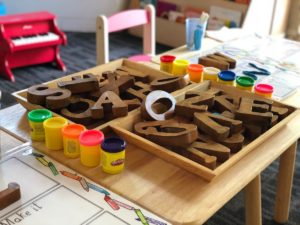 Letters and Playdoh